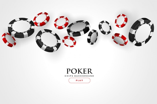 Kasyno poker czerwone i czarne tło żetonów
