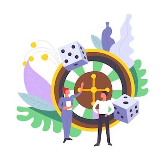 Kasyno ruletka jackpot wygrywając pieniądze mężczyzn i kobiet