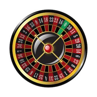 Kasyno ruletka - nowoczesny wektor na białym tle clipart ilustracja na białym tle. hazard, szczęście, koncepcja fortuny. użyj tej wysokiej jakości grafiki do prezentacji, banerów, ulotek