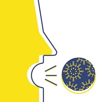 Kaszel z wirusem ilustracji