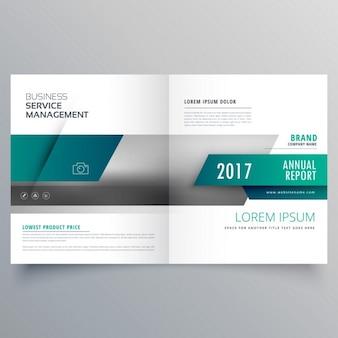 Katalog biznes broszura stronę tytułową projektowania układu dla danej marki