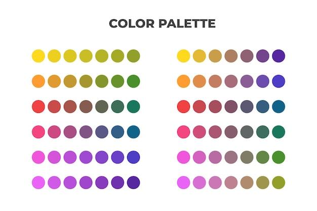 Katalog próbek palety kolorów