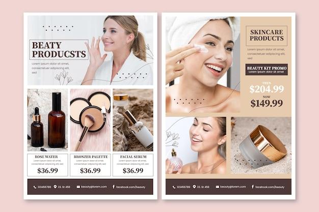 Katalog produktów kosmetycznych w kolorze gradientowym