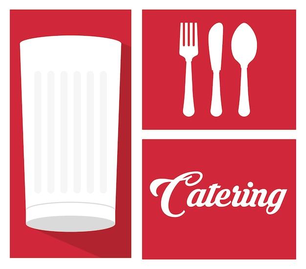 Katering serwis gastronomiczny kielich mleczny łyżka widelec nóż
