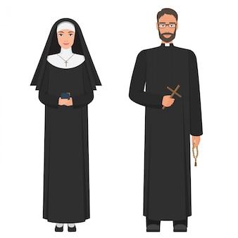 Katolicki ksiądz i zakonnica