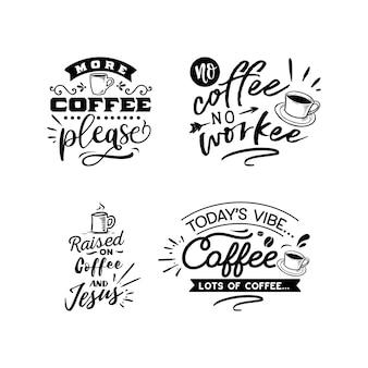 Kawa cytuje napis typografii do projektowania koszulek