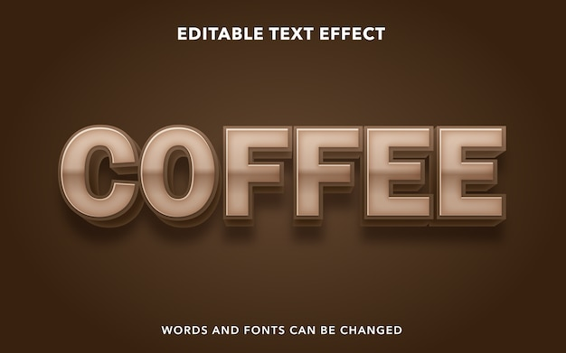 Kawa edytowalny styl efektu tekstu