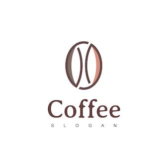 Kawa fasola logo kawiarnia ilustracja elementy projektu wektor