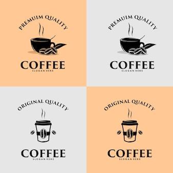 Kawa ilustracja elementy projektu vintage wektor