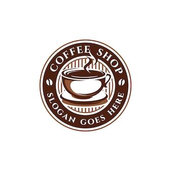 Kawa, kawiarnia szablon logo