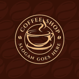 Kawa, Kawiarnia Szablon Logo Premium Wektorów
