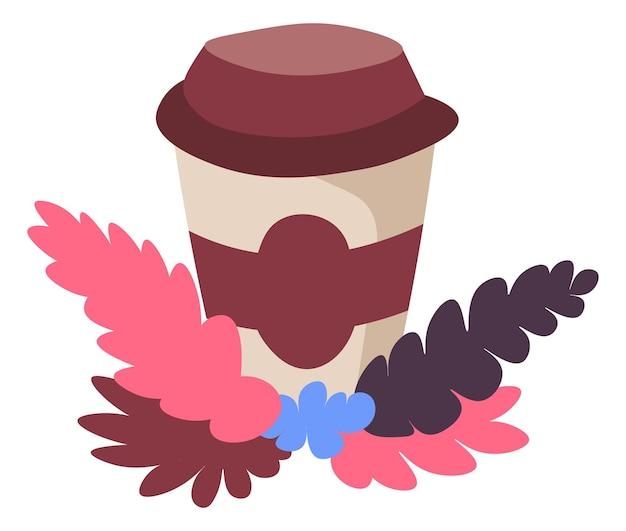 Kawa na wynos napoje i napoje wektor