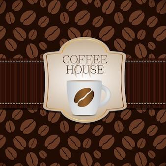 Kawa szablon tło wektor ilustracja