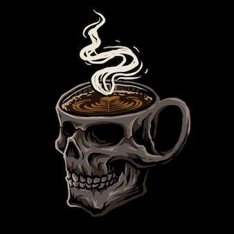 Kawa z czaszką