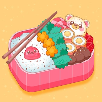 Kawaii bento asian japanese lunchbox