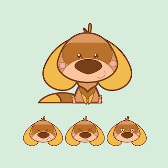Kawaii brązowy pies