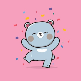 Kawaii cute illustration bear