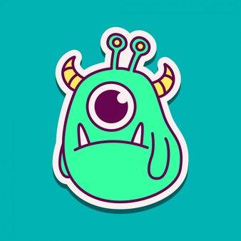 Kawaii doodle potwora
