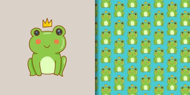 Kawaii king frog