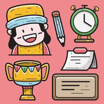 Kawaii kreskówka doodle projekt ilustracji