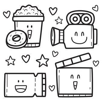 Kawaii kreskówka doodle projekt