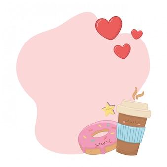Kawaii kreskówka kubek kawy