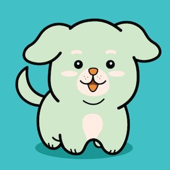 Kawaii mały pies szczeniak ikona