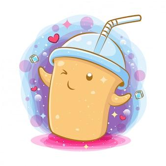 Kawaii mleko kawaii postać z kreskówki