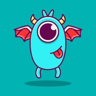 Kawaii potwór doodle ilustracja projektu