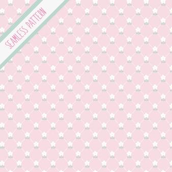 Kawaii różowy wzór kwiatowy wzór