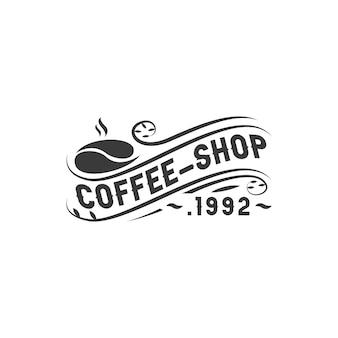 Kawiarnia 1992 logotyp ilustracja klasyczny vintage