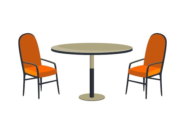 Kawiarnia i meble ogrodowe stół i krzesło na białym tle na białym tle