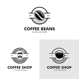 Kawiarnia ilustracja elementy projektu vintage wektor