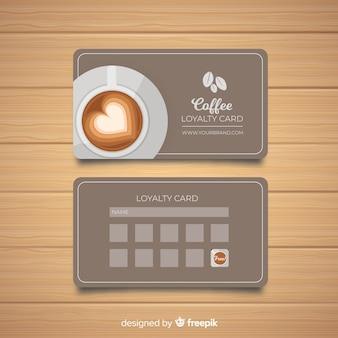 Kawiarnia karta lojalnościowa w nowoczesnym stylu