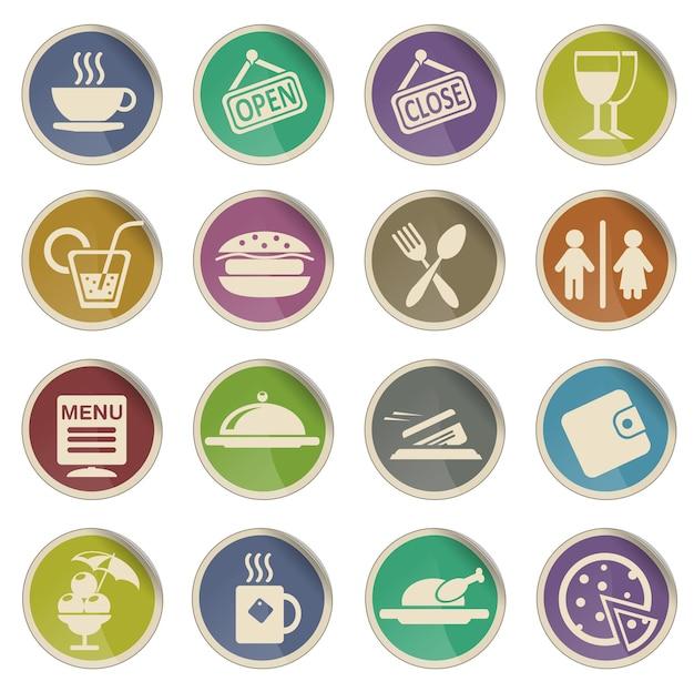 Kawiarnia po prostu symbol ikon internetowych
