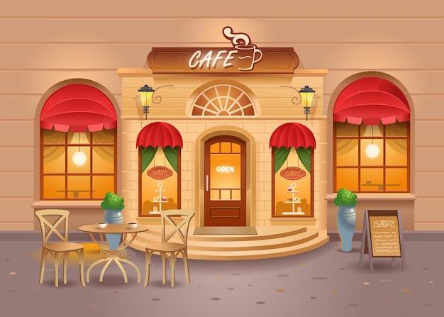 Kawiarnia w mieście. kawa. street cafe
