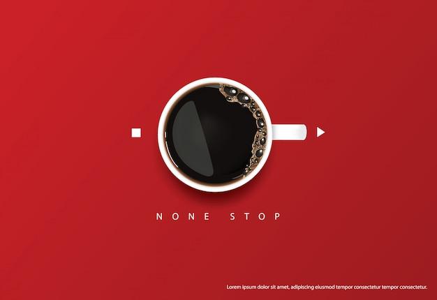 Kawowa plakatowa reklama flayers wektoru ilustracja