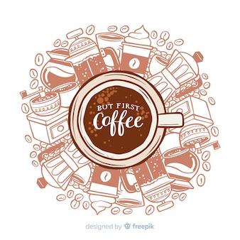 Kawowy tło