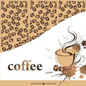 Kawy wektor szablon