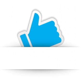 Kciuk w górę ikona wektor element projektu