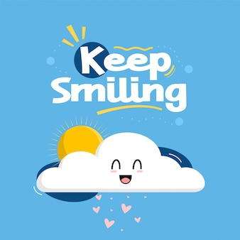 Keep smiling typografia