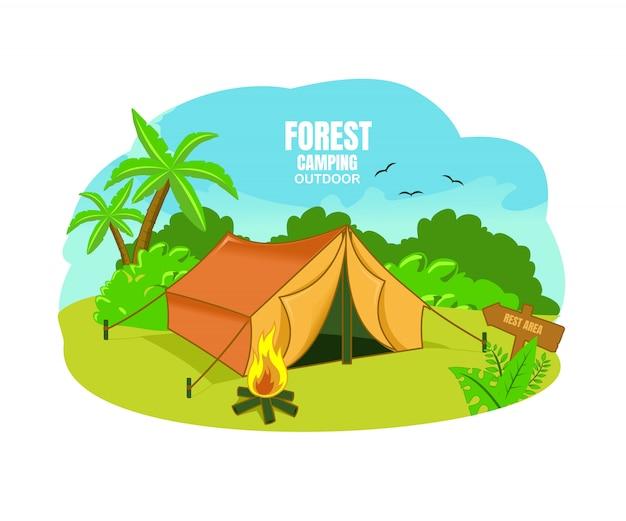Kemping leśny