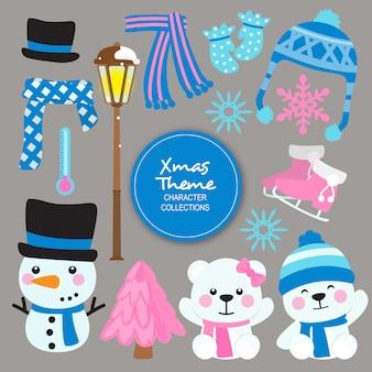 Kent świąteczne postacie zimowe
