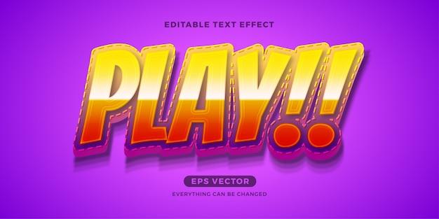 Kids play edytowalny efekt tekstowy
