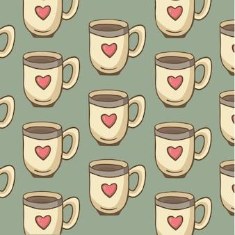 Kieliszek gorącej czekolady symbol social media post vector illustration