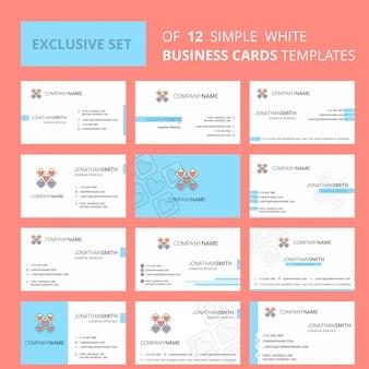 Kierki blokują szablon karty busienss. edytowalne logo creative i wizytówka