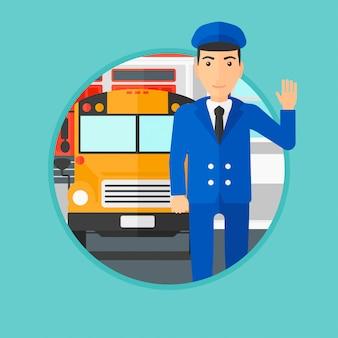 Kierowca autobusu szkolnego.