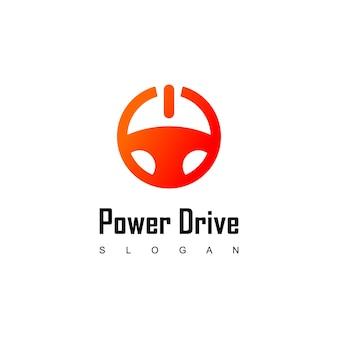 Kierownica, inspiracje do projektowania logo napędu