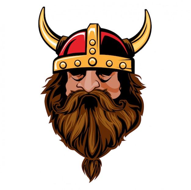 Kierownicza viking kreskówka w wektorze