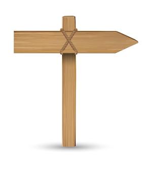 Kierunek drewna deska znak na białym tle